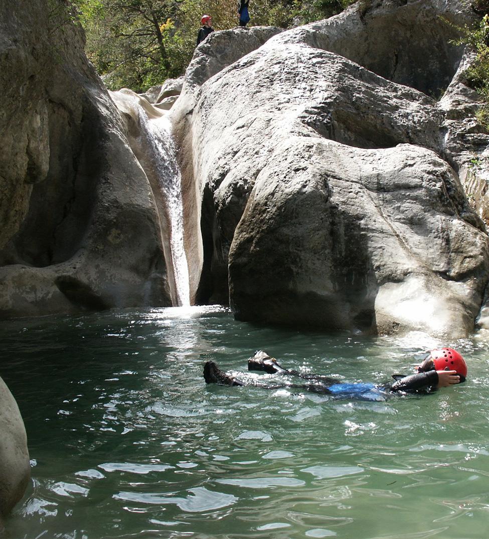 Petite cascade, canyonning Drôme