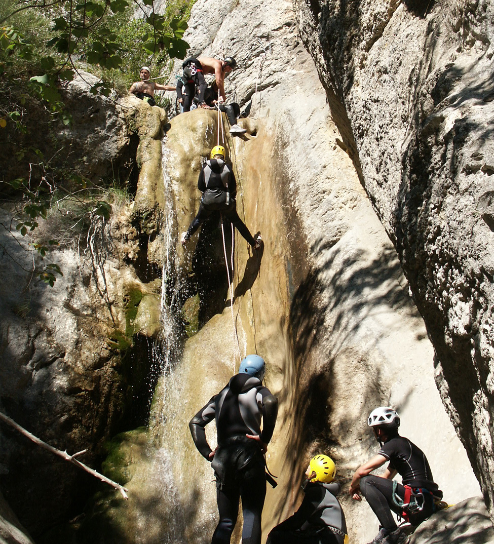 Descente en rappel, canyonning Drôme
