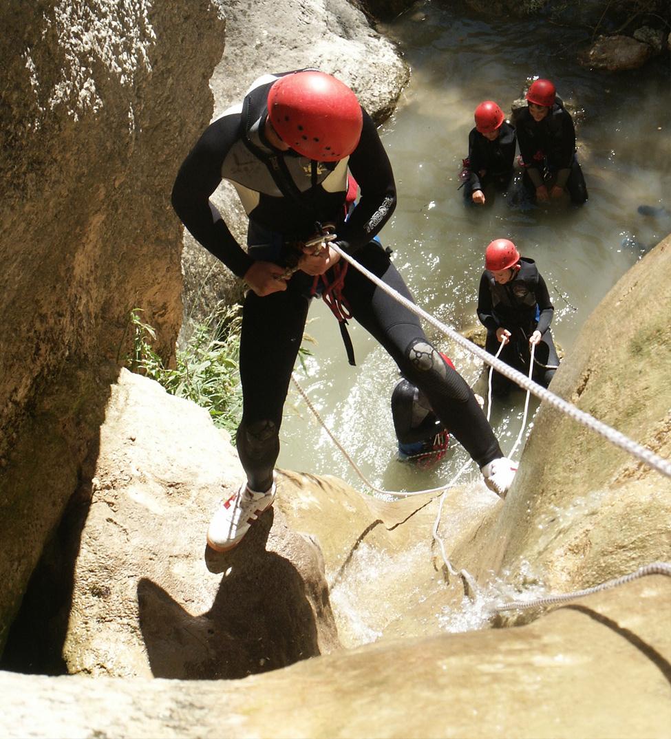 Rappel, canyonning Drôme