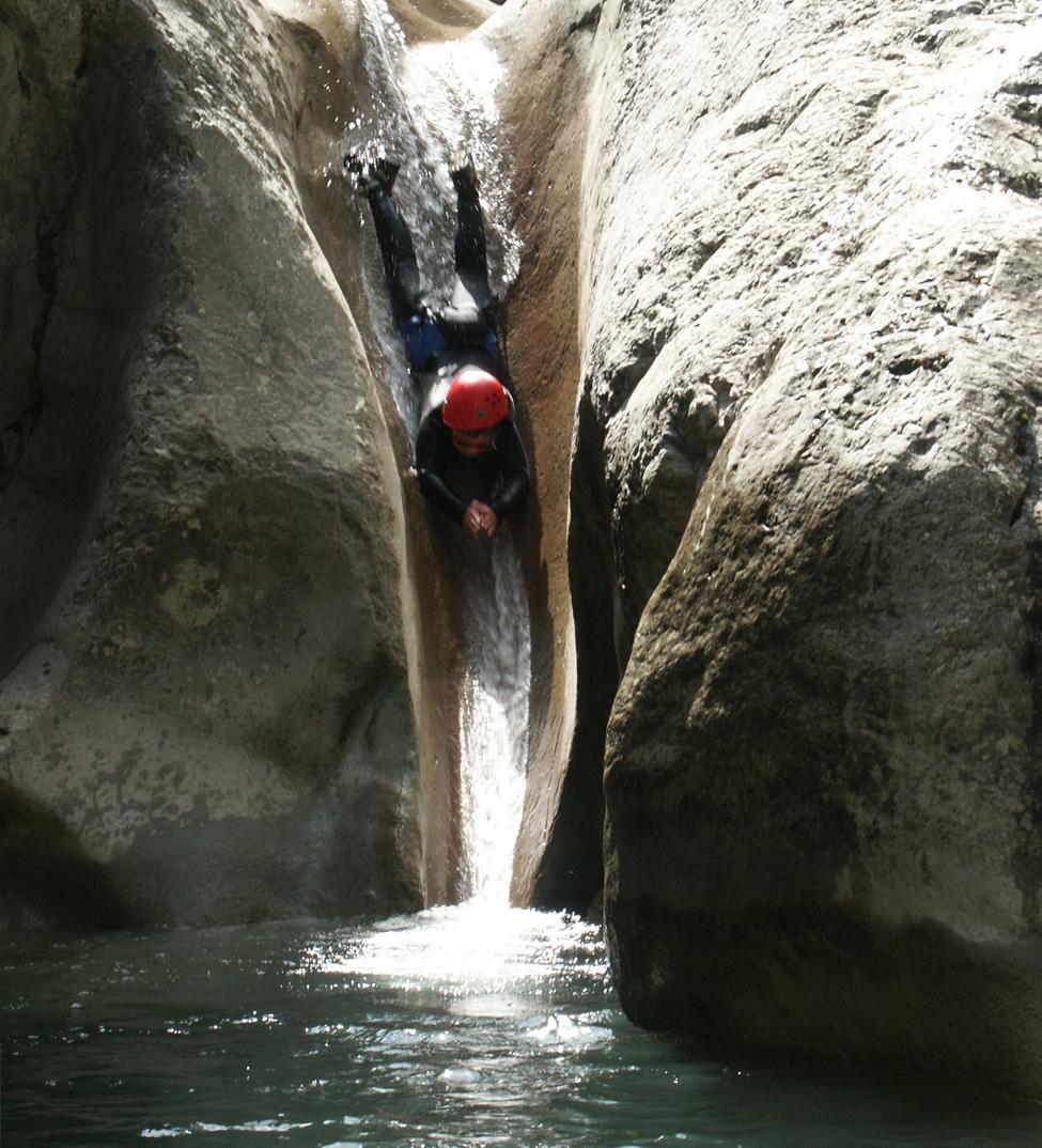 Toboggan canyonning dans le Drôme